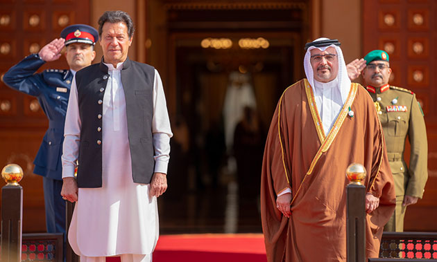 HRH the Crown Prince holds official round of discussions with HE the Prime Minister of Pakistan, Imran Khan