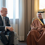 HRH Crown Prince meets Chief Executive Officer of the Italian energy company Eni S.p.A.