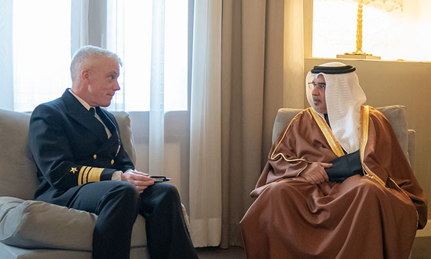 HRH Crown Prince meets newly appointed Commander of the US 5th Fleet