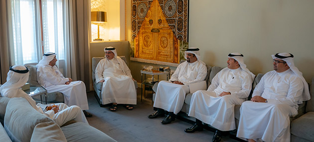 HRH Crown Prince meets Sameer Nass, Chairman of Bahrain Chamber of Commerce and Industry