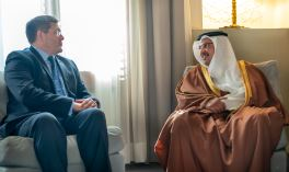 The Deputy King receives newly appointed UK Ambassador to Bahrain