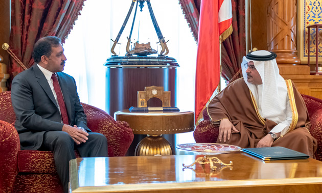 HRH the Crown Prince receives the Ambassador of the Islamic Republic of Pakistan to the Kingdom of Bahrain