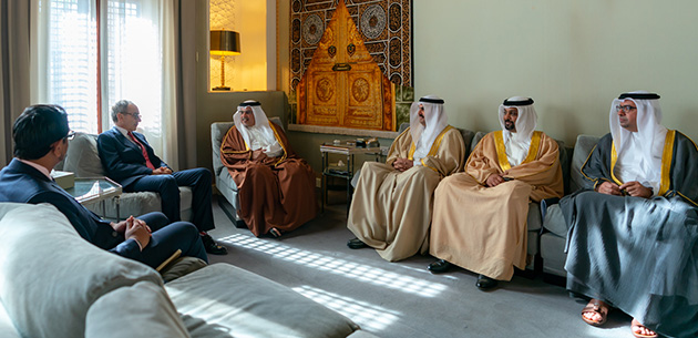 HRH Crown Prince receives UK Ambassador to Bahrain, HE Simon Martin