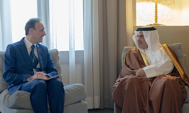 HRH Crown Prince meeting with the Undersecretary of State for Foreign Affairs of the Italian Republic