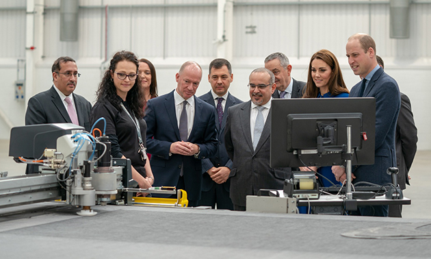 HRH Crown Prince attends opening ceremony for McLaren's new factory in Rotherham